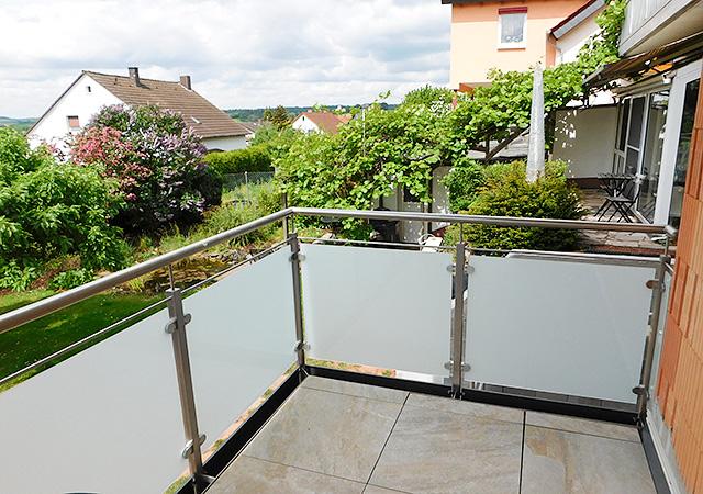 Balkongelander Metall Glas Ng Metall Manufaktur
