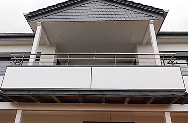 Balkongeländer Sichtschutz / Metall